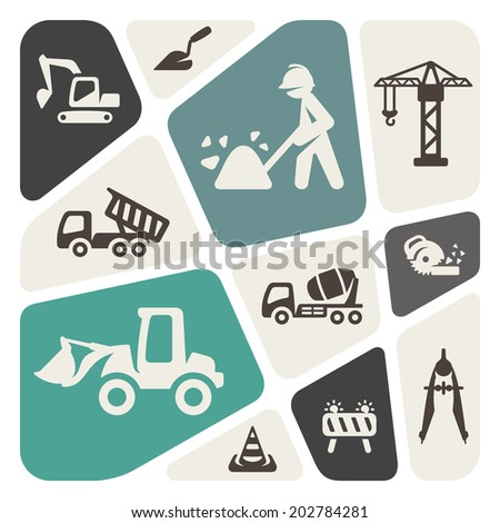 Construction theme background - stock vector