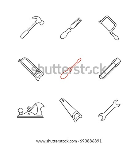 chisel and hammer coloring pages - photo#7