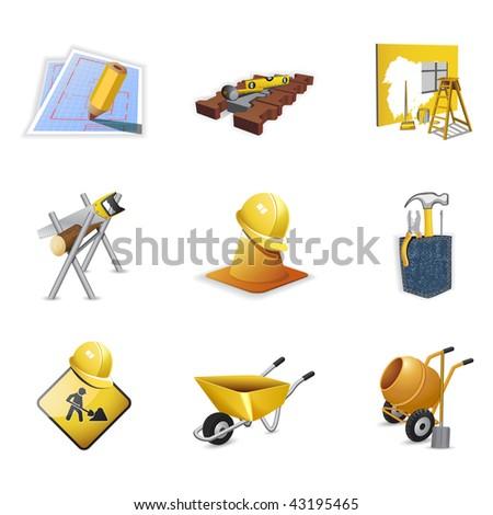 Construction tools, part 2 - stock vector