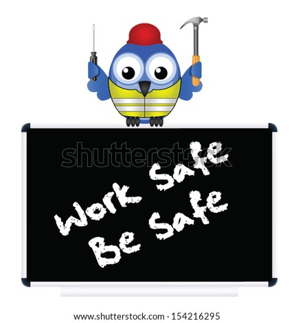 Construction work safe be safe message isolated on white background - stock vector