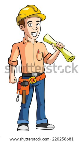 Construction Worker - stock vector