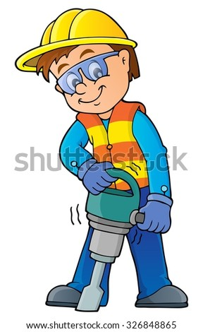 Construction worker theme image 7 - eps10 vector illustration. - stock vector