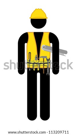 construction worker , vector - stock vector