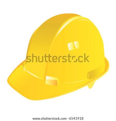 construction workers hard hat vector - stock vector