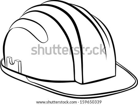 constructions helmet - stock vector