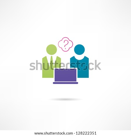 Consulting icon - stock vector