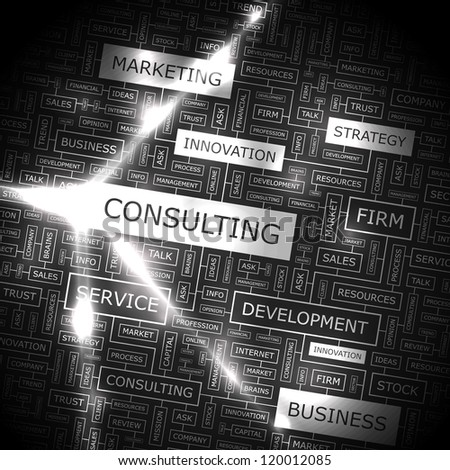 CONSULTING. vector pattern. Word collage. Vector illustration.