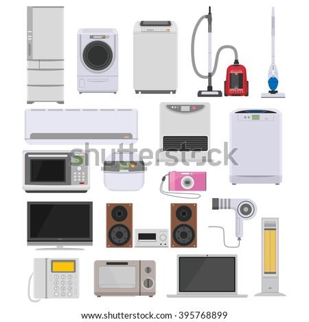 Consumer electronics icon - stock vector