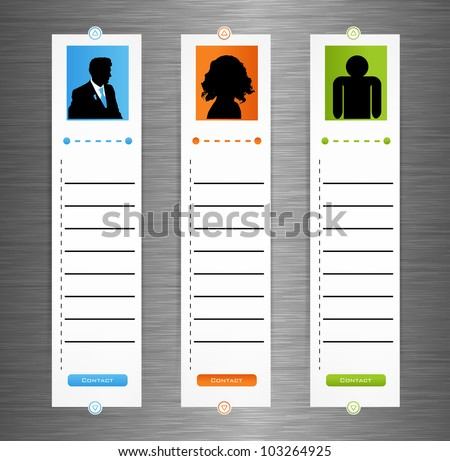 Contact banner - set for your business - stock vector