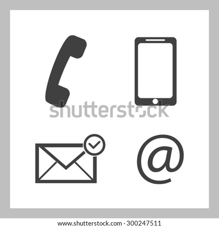 Contact buttons set - email, envelope, phone