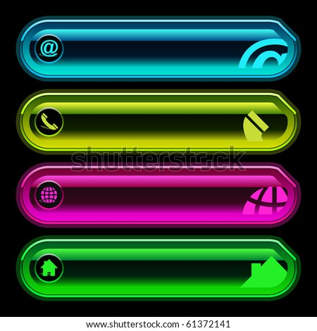 Contact element set for design. - stock vector