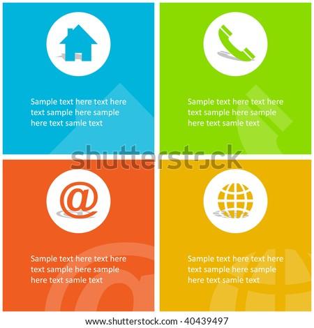 Contact elements for design. Vector set. - stock vector