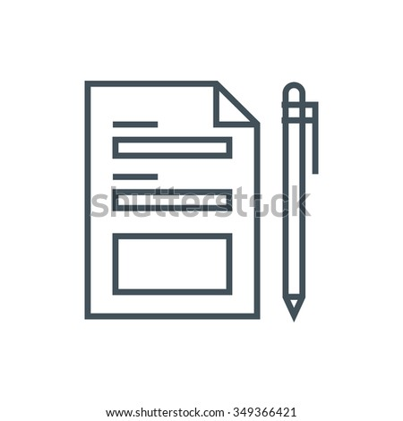 Contact form icon suitable for info graphics, websites and print media and  interfaces. Line vector icon. - stock vector