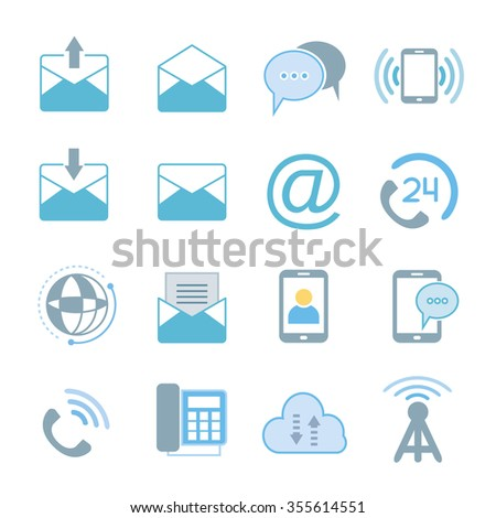 contact icons, communication icons