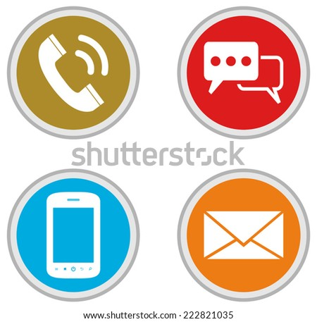 Contact Icons - Illustration  - stock vector