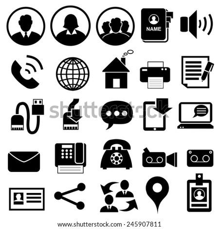 Contact icons.vector - stock vector