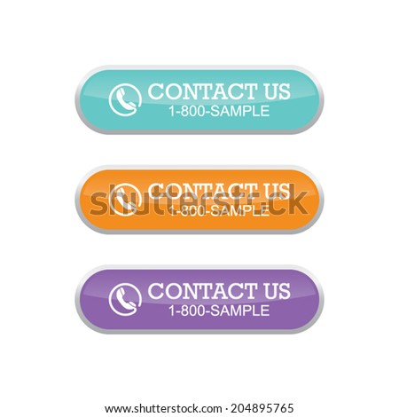 Contact Us Banners - stock vector