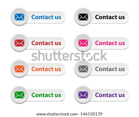 Contact us buttons - stock vector