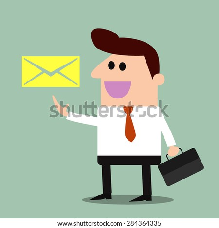 Contact us by Email - illustrations - stock vector