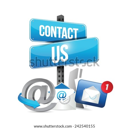 contact us communication icons illustration design over a white background - stock vector