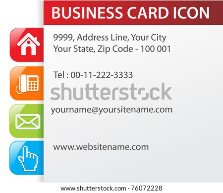 contact us page web site design template, - stock vector
