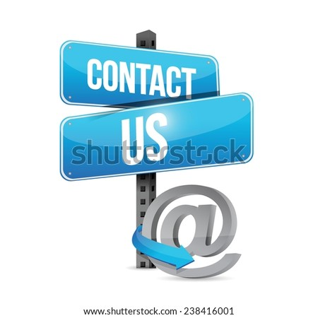 contact us sign and online symbol illustration design over a white background