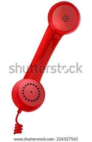 contact us vector icon - Illustration of a retro styled phone - stock vector