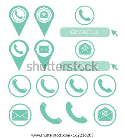 contact us. vector Illustration. - stock vector