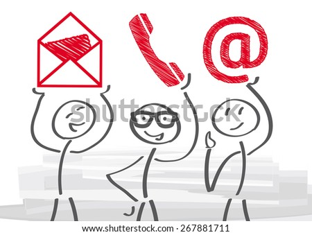 contact us - vector illustration - stock vector