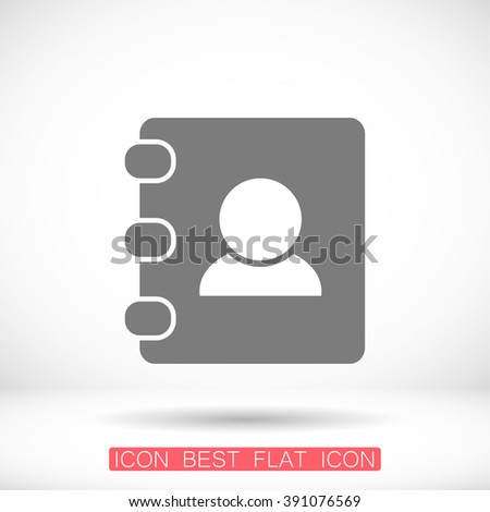 Contacts book icon, contacts book pictograph, contacts book web icon, contacts book icon vector, contacts book icon eps, contacts book icon illustration, contacts book icon picture - stock vector