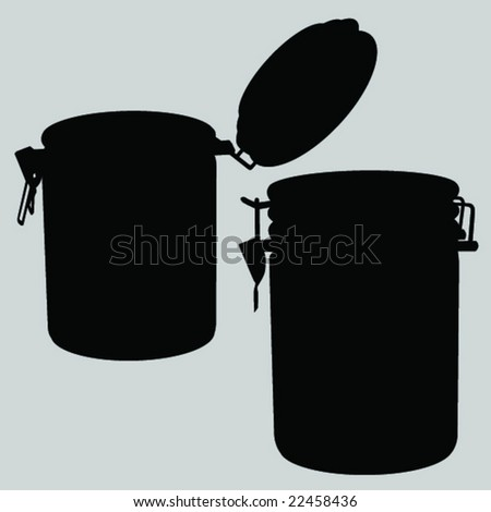 Container - stock vector
