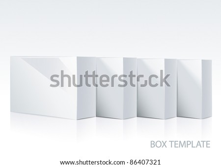 Container template - stock vector