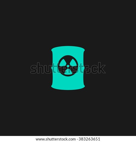 Container with radioactive waste. Flat simple modern illustration pictogram. Collection concept symbol for infographic project and logo - stock vector