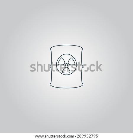 Container with radioactive waste. Flat web icon or sign isolated on grey background. Collection modern trend concept design style vector illustration symbol - stock vector
