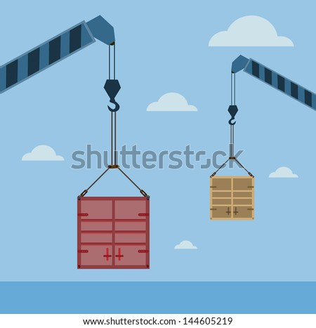Containers shipping - stock vector