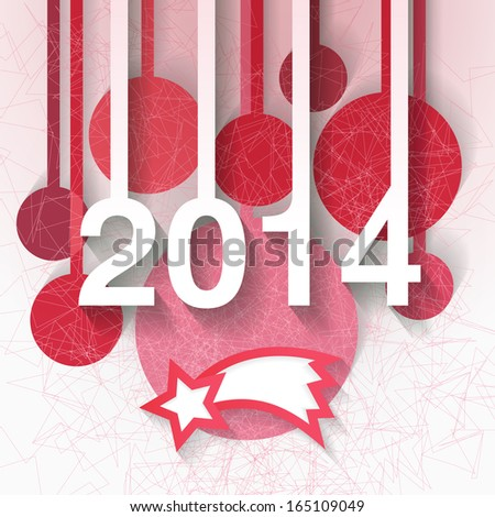 Contemporary abstract design for 2014 Christmas and New Year greeting card. Eps10