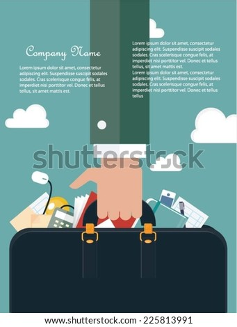Contemporary business concept - stock vector
