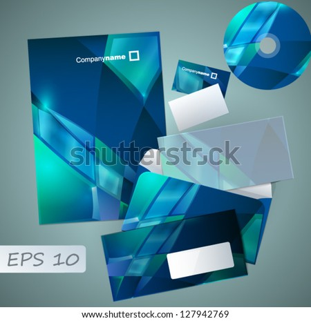 Contemporary design of corporate style - stock vector
