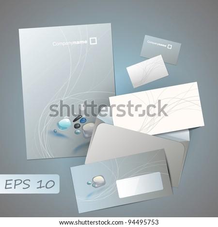 Contemporary design of corporate style - stock vector