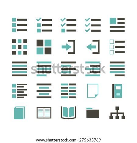 Content Icon color - stock vector