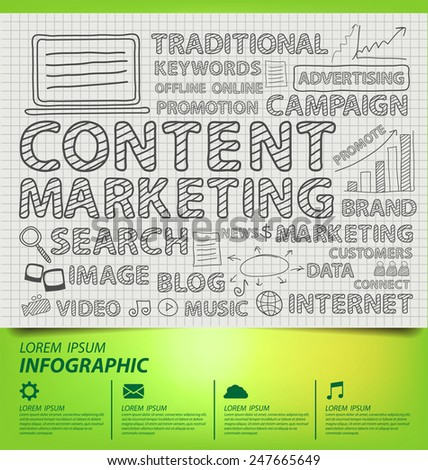 content marketing concept. Business concept vector illustration. - stock vector