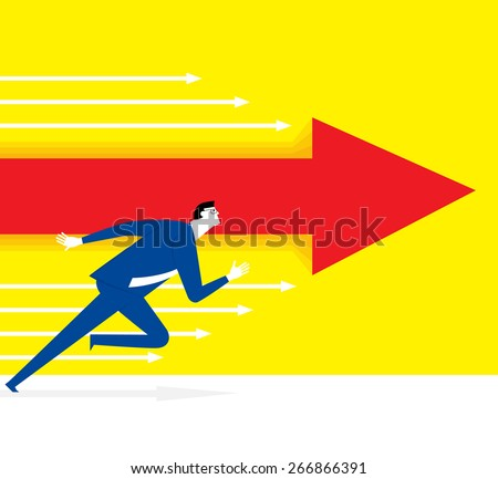 Continued to get ahead - stock vector