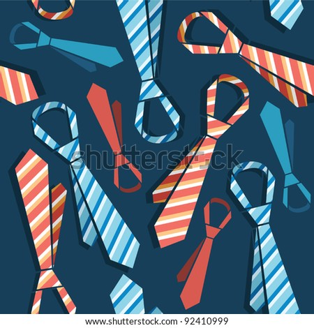 Continuous background with ties - stock vector