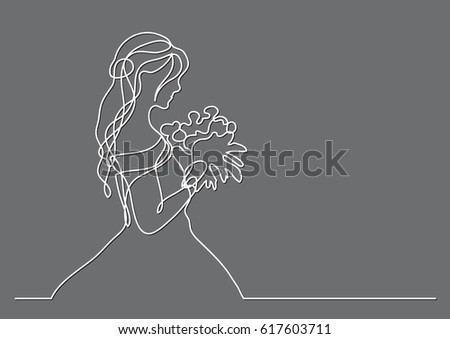 Contour Line Drawing Of A Person : Thinking man continuous line drawing stock vector