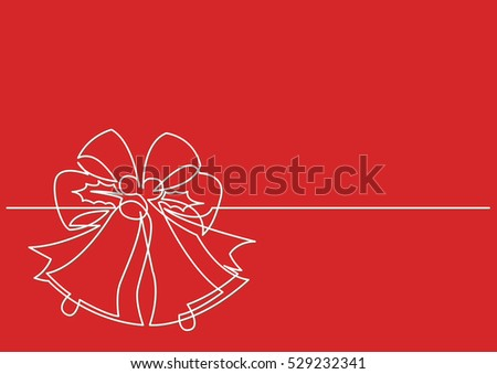 Line Drawing Xmas : Continuous line drawing christmas ornament decoration stock vector