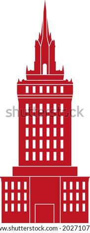 Contour Building Illustration - Vector Contour Acchitecture Series - stock vector