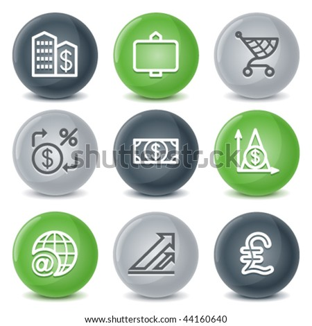 Contour icons, set 23 - stock vector