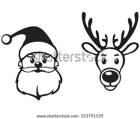 Sketch santa claus face search results calendar 2015