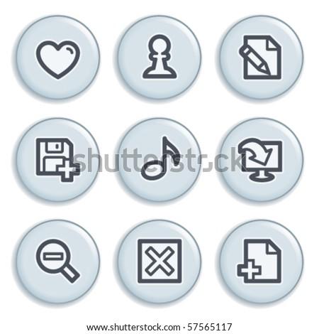 Contour internet icons 10 - stock vector