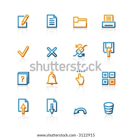 contour notebook icons - stock vector